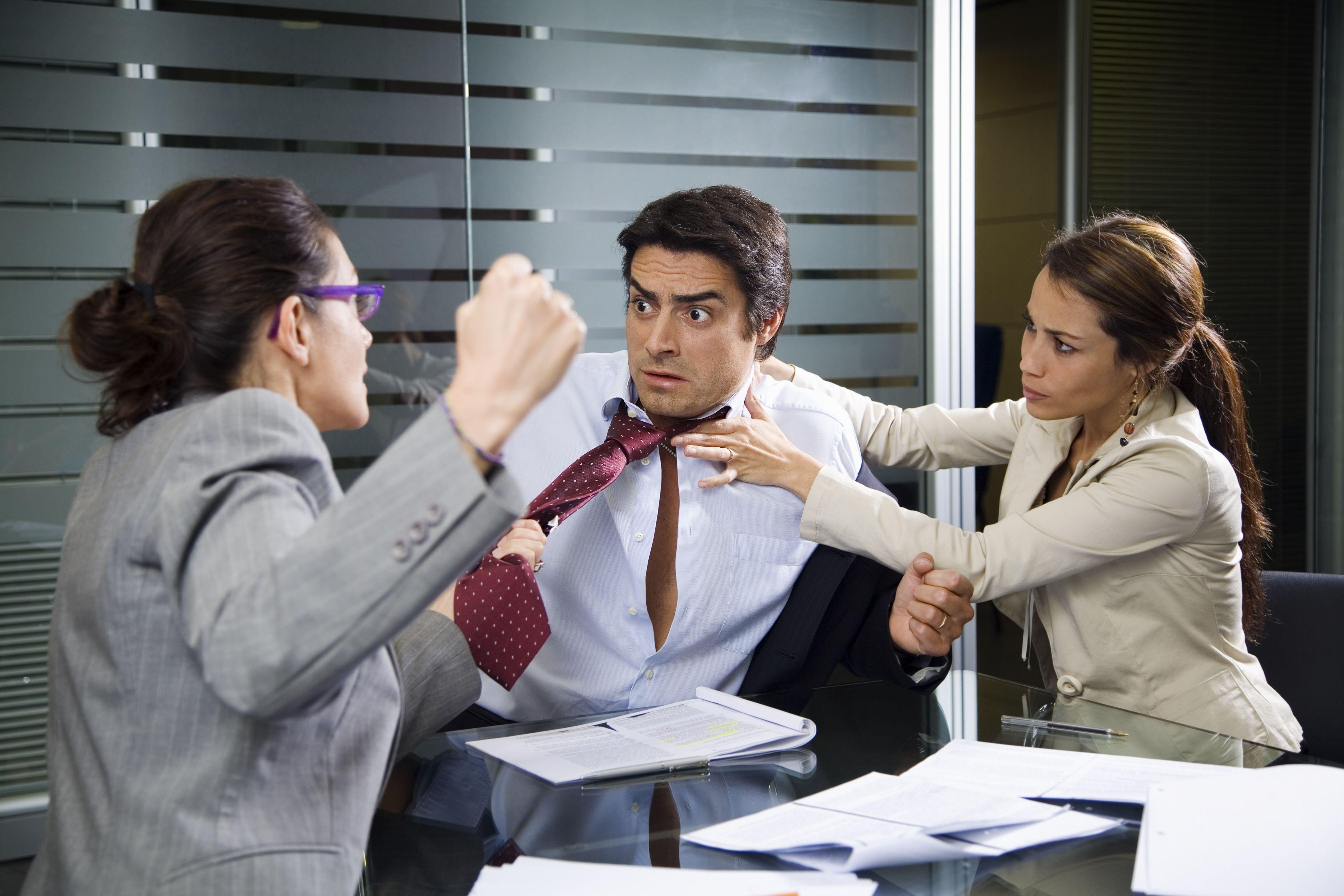 Картинки с конфликтами на работе