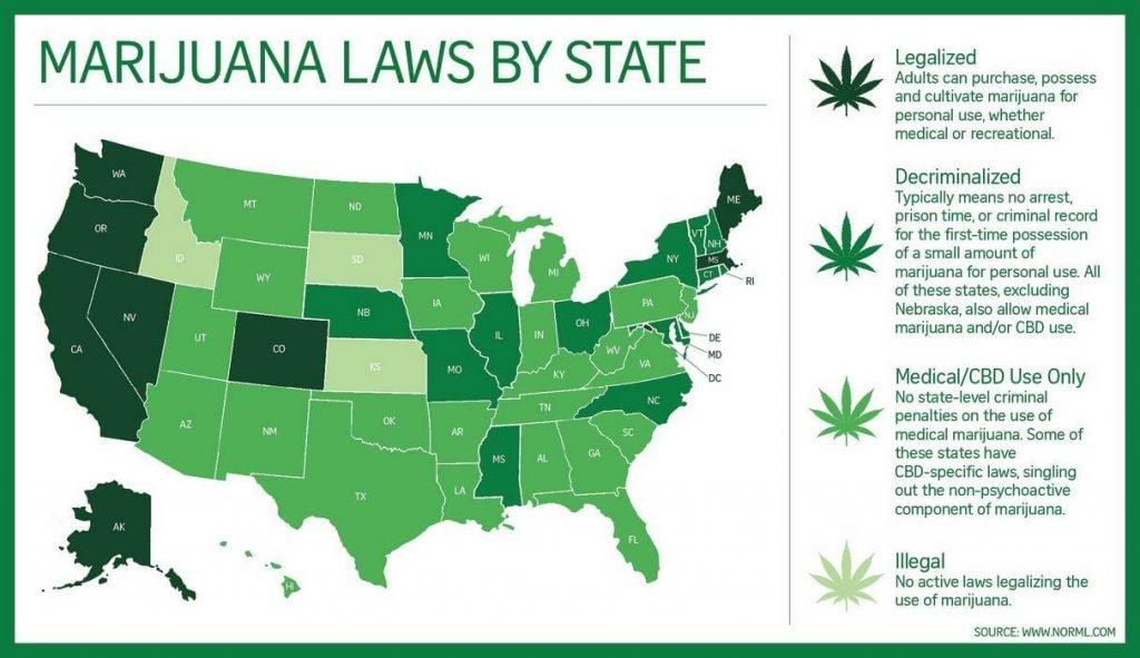 Штаты в сша в которых легализована марихуана марихуана колорадо