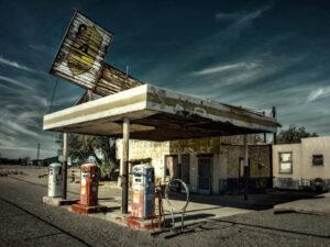 бензоколонка США