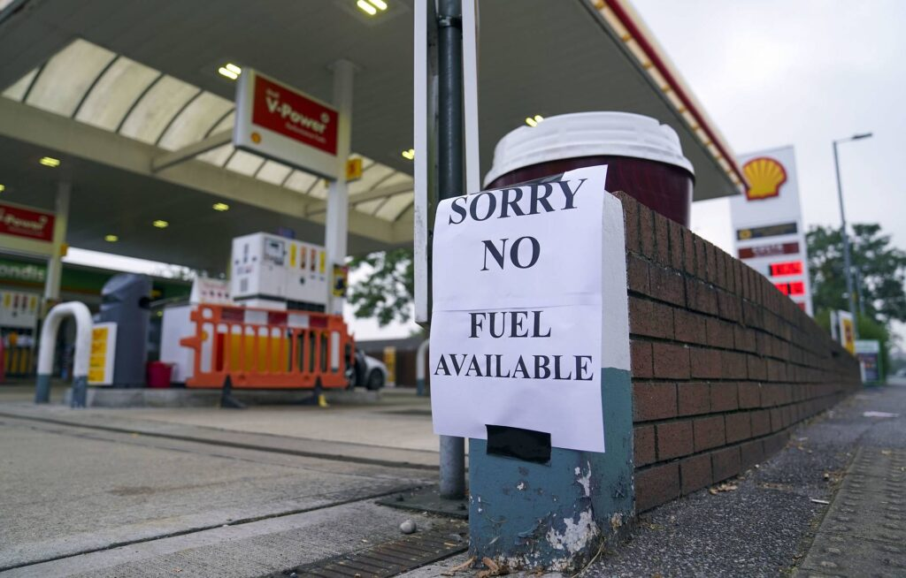 британия нет бензина
